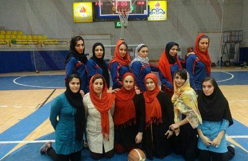 تیم بسکتبال بانوان نظام مهندسی ساختمان خوزستان مقام اول را کسب کرد